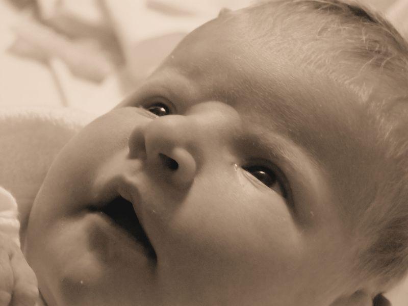 HMW birth announcement sepia